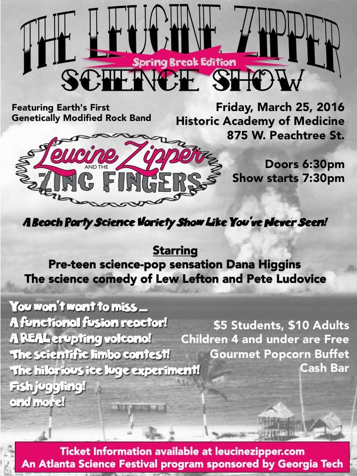 March 25, 2016 - Leucine Zipper Science Show, Academy of Medicine