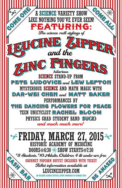 March 27, 2015 - Leucine Zipper Science Show, Academy of Medicine